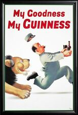 Guiness My Goodness Framed Poster in Premium Wood Molding 24x36