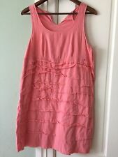 Gap Dress size 8 salmon ruffled front fully lined excellent condition