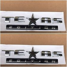 2X TEXAS EDITION BLACK LOGO GMC SIERRA CHEVY SILVERADO FENDER I TRUNK TAILGATE