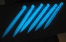 Tent Stakes, Ground Stakes, Glow in the Dark, Plastic - 6 Pack