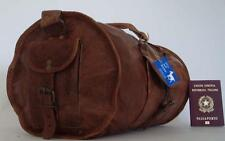 "Handmade Leather Goat 18"" Duffel Bag DSR Sport Cabin Travel Billy Goat Designs"
