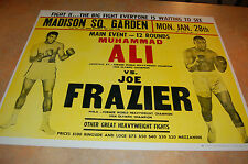 1974 MUHAMMAD ALI VS. JOE FRAZIER ONSIGHT POSTER!!! SUPER RARE!!!