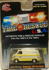 Appleton Fire Department Wisconsin 1975 Chevy Van RACING CHAMPIONS FREE SHIPPING