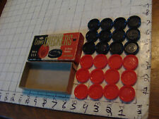 vintage Crown Checkers plastic in box, self-stacking, complete Whitman
