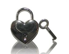 NEW HANDBAG BAG REPLACEMENT LOCK HEART CHARM WITH KEY SILVER LUGGAGE JEWELRY BOX