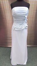 Flawed Ebony Rose Blue Long Evening Dress 12-14 - Prom Wedding Bridesmaid (171J