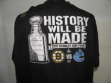 NHL 2011 STANLEY CUP FINALS BOSTON BRUINS-CANUCKS lOGO TEE-SHIRT SIZE XL  NWOT