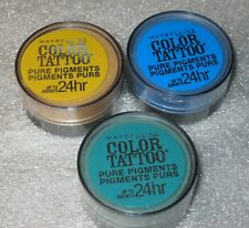 Maybelline Color Tattoo Pure Pigment (Loose Eye Shadow) 3 piece lot