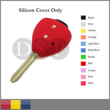 Silicone Cover Holder Shell fit for TOYOTA Corolla Remote Key Case 2 BTN 11C RD