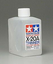 Tamiya THINNER Acrylic Hobby Model Paint Acrylic X20A Thinner 250ml 81040