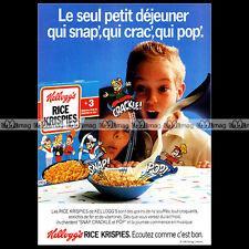KELLOGG'S RICE KRISPIES 1987 - Pub Publicité Vintage Original Ad Advert #A577