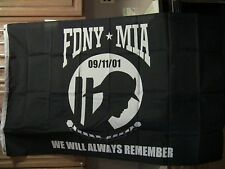 "FDNY*MIA ""WE WILL ALWAYS REMEMBER"" 3' x 5' Polyester Flag"
