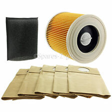 KARCHER Vacuum Cleaner Filter & Bags Kit Wet & Dry Hoover Filters A2204 A2234PT