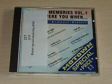 v/a MOTOWN MEMORIES Vol 1 Where Were You When ... CD 1988 Contours Mary Wells