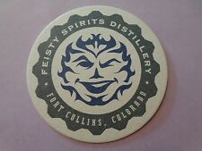 Beer Liquor Coaster ~ FEISTY SPIRITS Distillery Whiskey ~ Fort Collins, COLORADO