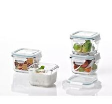 NEW Glasslock 8-Piece Square Oven Safe Container Set