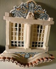 "HAND CREFTED PLASTER WINDOW MOLD DECORATIVE WALL HANGING 8"" L X 8"" W PORTUGAL"