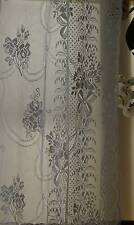 Laura Ashley white Cotton Lace Curtaining c1900s Bows Ribbons period design