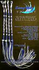 Tzitzit LIVING WATER STYLE 100% COTTON Torah Messianic Jewish tallit Royal/White