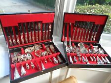 Superb Huge Kings Pattern 104 pce Silver Plated Canteen Of Cutlery Sheffield