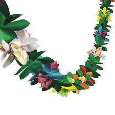 Hawaiian Tropical Flower Garland 9ft Luau Beach Tiki Pool Party Decoration