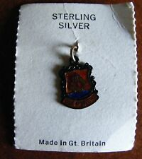 SILVER Isola di Wight enameled charm ancora in IT'S CARD