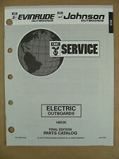 1993 OMC JOHNSON EVINRUDE ELECTRIC OUTBOARD TROLLING MOTOR PARTS CATALOG 116014