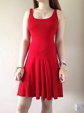 Ladies POLO Ralph Lauren Dress Red Viscose Size S NEW RRP £350