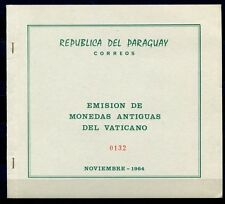 PARAGUAY 1964 Eucharist. Kongreß Religion Block 63 im Folder  ** MNH