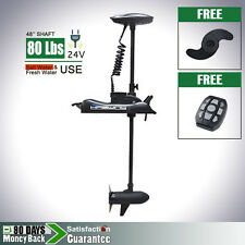 AQUOS Cayman 24V 80 lbs Bow Mount Electric Trolling Motor Variable Speed Control