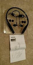 Philips Bluetooth Wireless MetalixPro Neckband In-Ear Headphone Mic SHB5950 BK