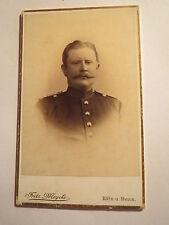 Köln u. Bonn - Soldat mit Bart in Uniform - Portrait / CDV
