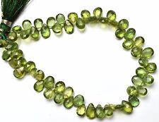"""Natural Gem Bottle Green Apatite 4x6 to 5x7MM Pear Shape Briolette Beads 8"""""""