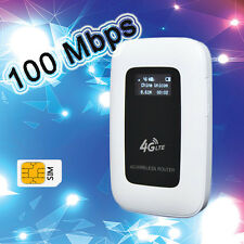 Unlocked 4G 100Mbps Mini WIFI 4G Moblie LTE WIFI router with sim card Slot
