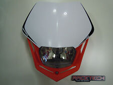 Mascherina Moto Rtech V-face RED-WHITE Honda Headlight Scheinwerfer Phare фара