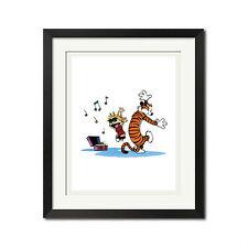 Calvin and Hobbes Disco Dancing Poster Print