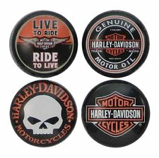 Harley Davidson Core Collection 4pc Magnets