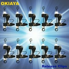 10 Release Clips Boating & Fishing for Kite, Outriggers, Downriggers