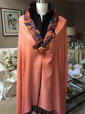 Woman's Scarf Pashmina Apricot Shawl Wrap Up-cycled Vintage Silk Men's Neck Ties