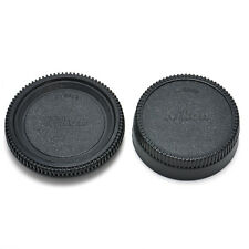 Body Front + Rear Lens Cap Cover SET For Nikon AF AF-S Lens DSLR SLR Camera