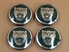JAGUAR WHEEL CAPS GREEN  ALLOY CENTRE SET OF 4 59mm X XJR XJ6 XF F TYPE
