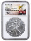 2016 1 Oz American Silver Eagle NGC MS69 FR (Mercanti Signed Label) SKU38845