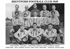 BRENTFORD F.C.TEAM PRINT 1949 (DARE  /HILL / GREENWOOD)