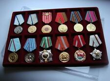 P12ll MEDAL TRAY FOR 12 MEDALS + COVER - each space 46x96mm coin/medal collector