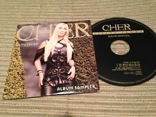 CHER CD SAMPLER PROMO LIVING PROOF CARD SLEEVE EDITED TRACKS 2 MINUTES EACH