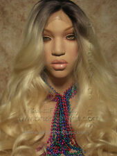 dark root ombre blonde lace front wig, Ms. Rich Beyonce lace wig, ombre lace wig