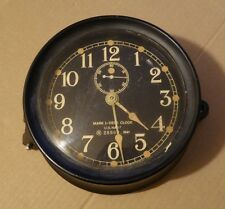 U.S. Navy Mark I Deck Clock N 28869, 1941, good working order, keeping time.