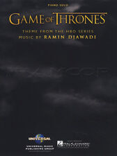 Game of Thrones Theme Piano Solo Sheet Music Book Ramin Djawadi