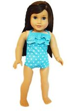 """Doll Clothes AG 18"""" Bathing Suit Teal White Glasses Fits American Girl Dolls"""