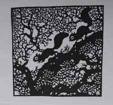 Chinese Hand made  Paper Cut/Silhouettes-Squirrel